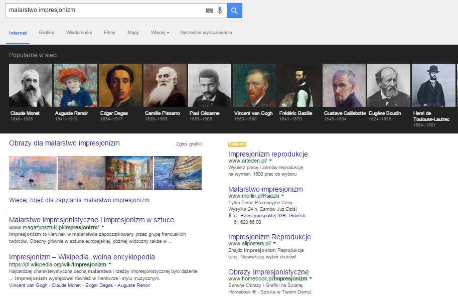 """Wynik wyszukiwań dla hasła """"malarstwo impresjonizm"""""""