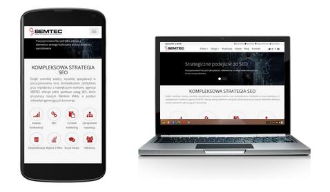 Przykład strony responsywnej - smartfon, latpot