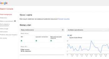 Google Search Console - pulpit nawigacyjny