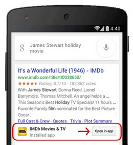App indexing Google