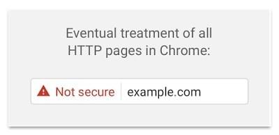ostrzeżenie w Chrome 56