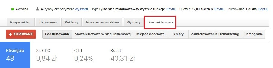 Sieć reklamowa Google