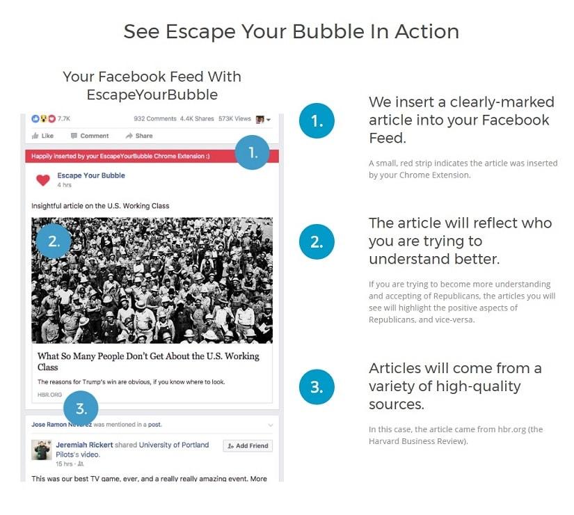 Rozszerzenie Escape Your Bubble