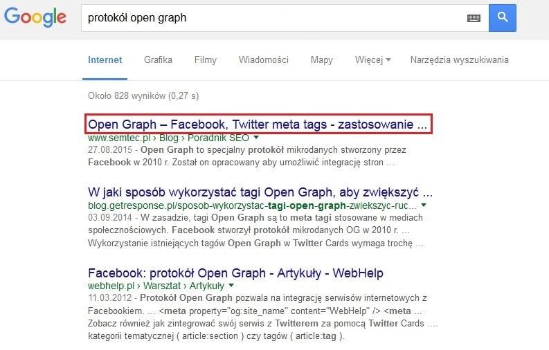 Tytuł - title w Google SERP