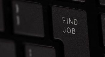 """Klawiatura z klawiszem """"find job"""""""