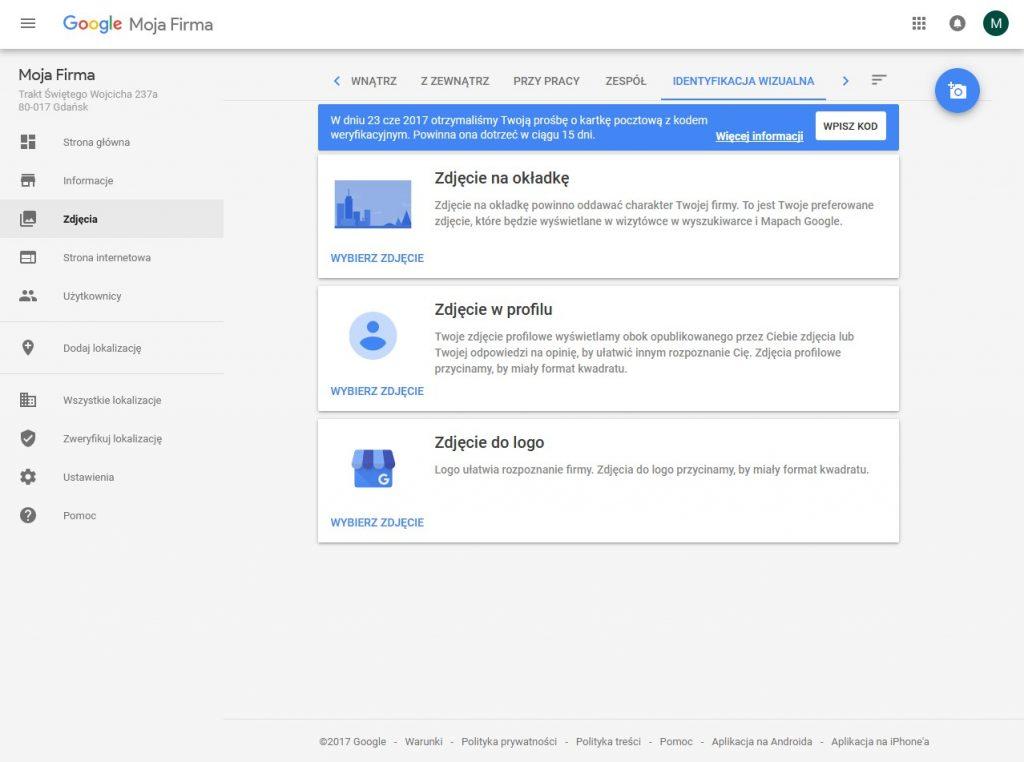 Google Moja Firma: dodawanie zdjęć