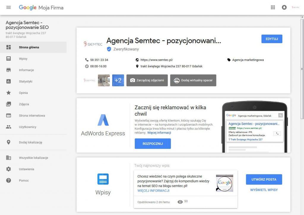 Google Moja Firma: zarządzanie lokalizacją
