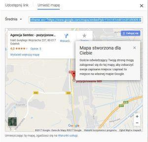 Google Moja Firma: publikacja wizytówki na stronie