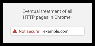 Planowanie ostrzeżenie HTTPS w Chrome