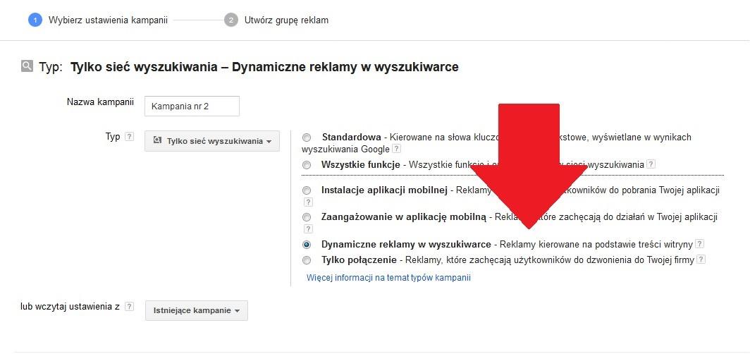 Dynamiczne reklamy tekstowe