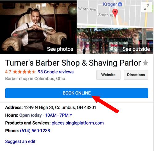 rezerwacje online w google maps / moja firma