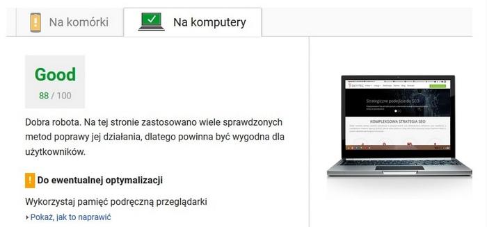 Test Google PageSpeed