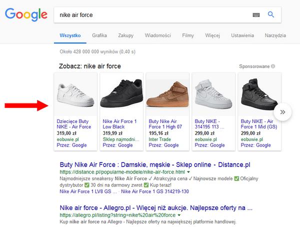 Reklamy graficzne Google PLA