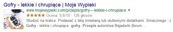 Rich snippet - wynik rozszerzony w Google SERP