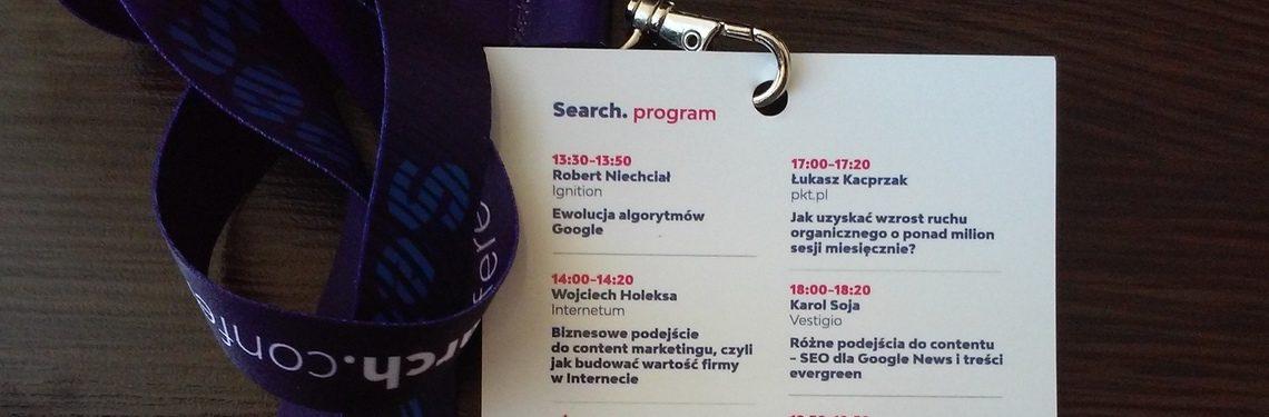 Search Conference - program